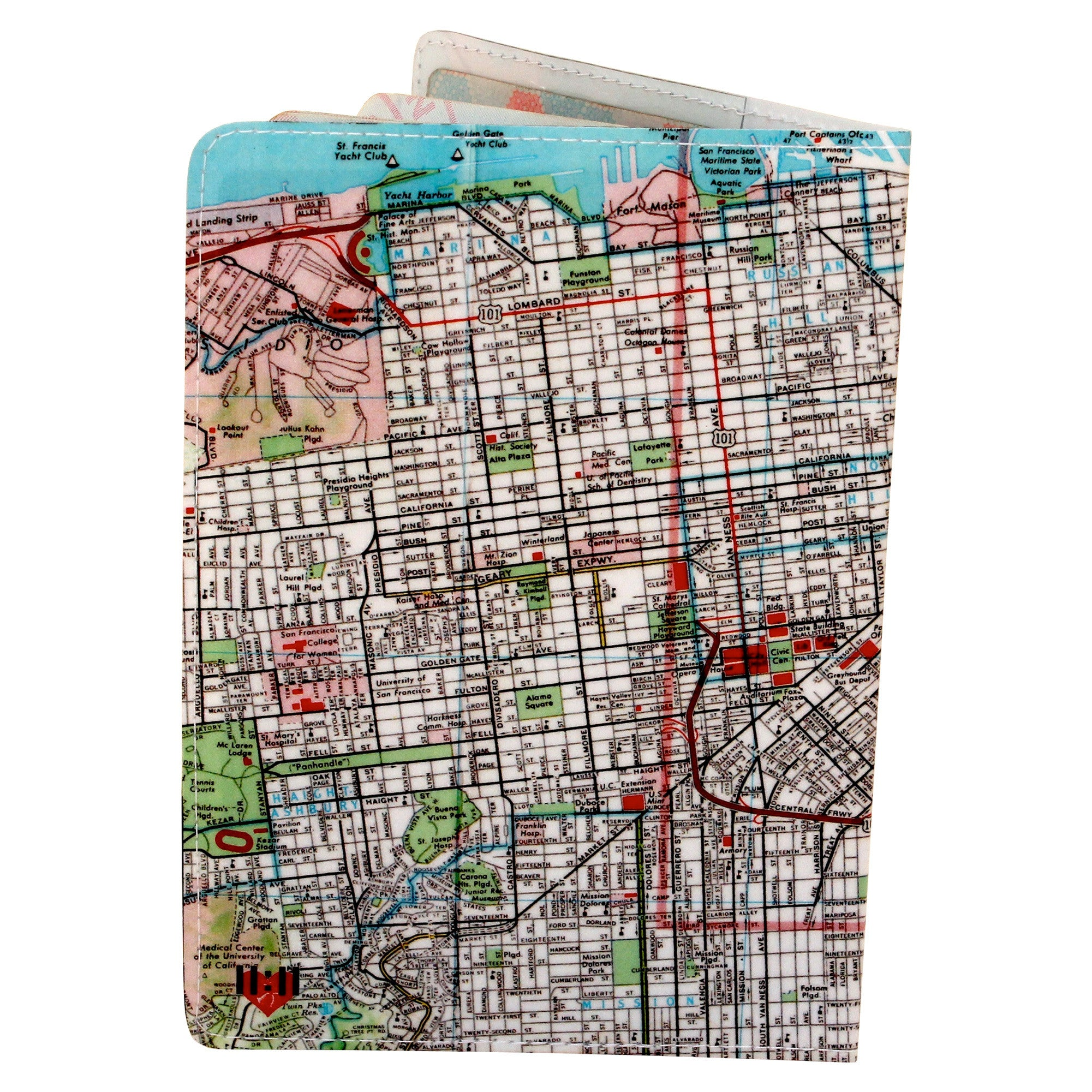 San Francisco Bay Map Travel Passport Holder