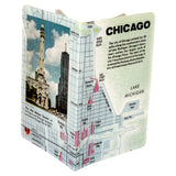 Chicago Map Travel Passport Holder