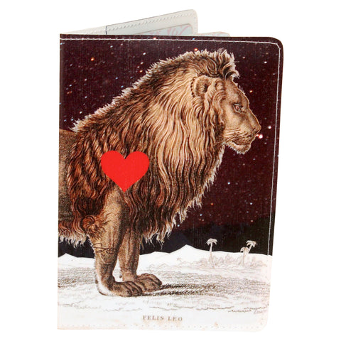 Starry Leo Lion Heart Passport Holder