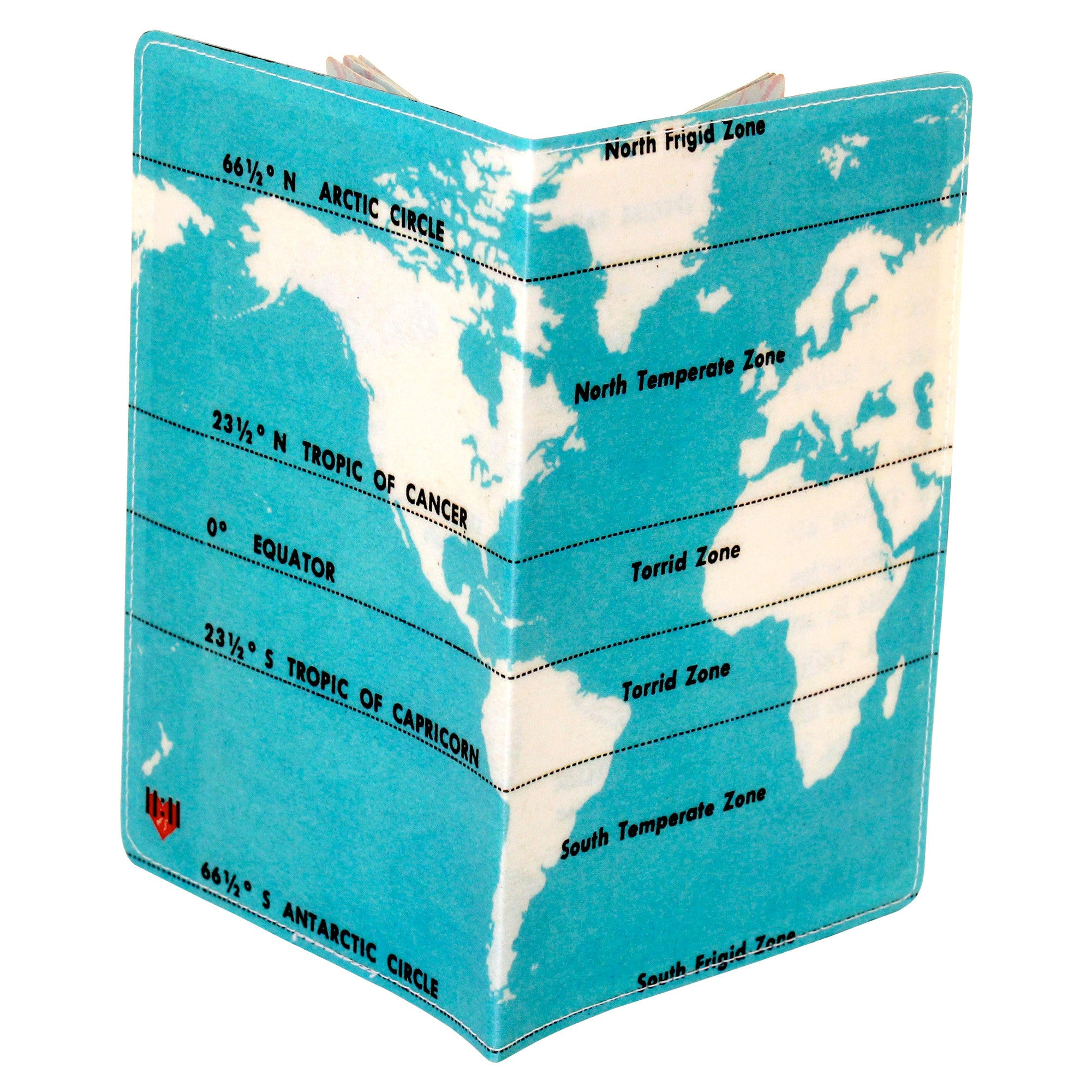Climate Zones Map Passport Holder
