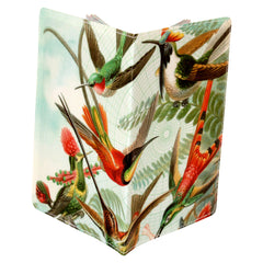 Beautiful Hummingbirds Travel Set- Passport Holder + Matching Luggage Tags