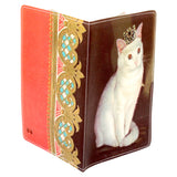 Royal White Kitty Passport Holder