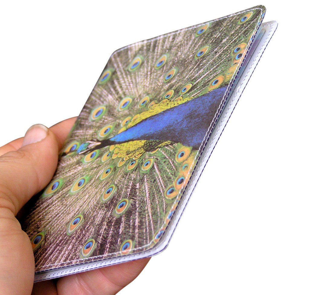 Peacocks Travel Passport Holder