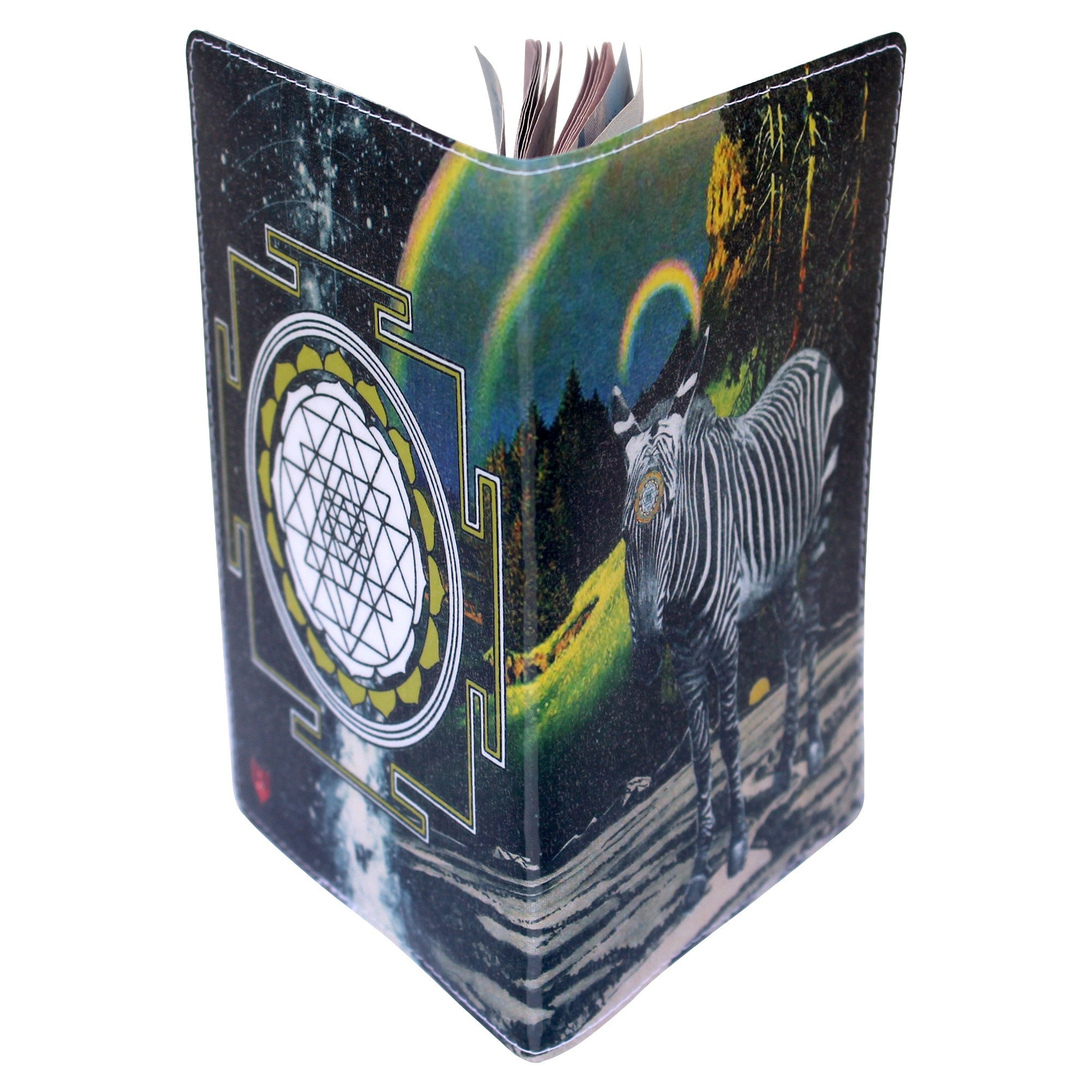Zebra Magic Sri Yantra  Passport Holder