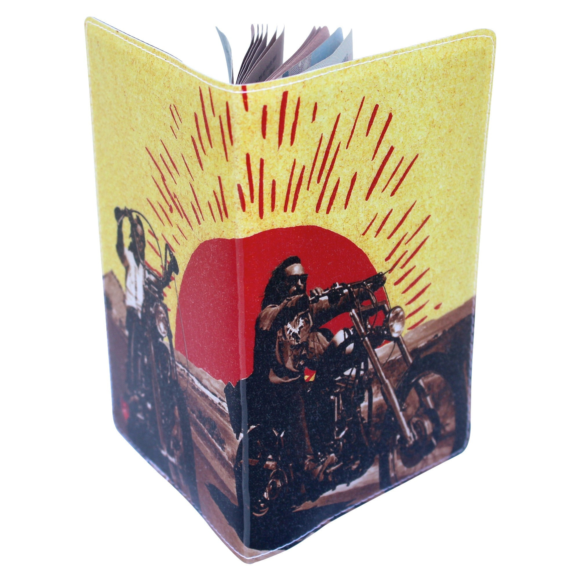 Easy Rider Motorcycle Road Trip Passport Holder