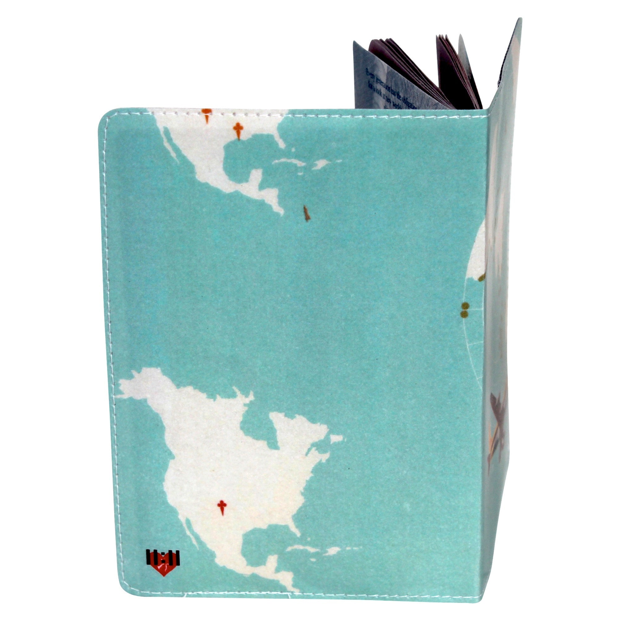 Dapper Blue Flight Map Passport Holder