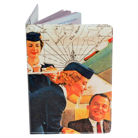 Vintage Flight Attendant Passport Holder