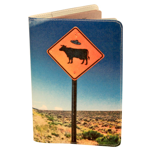 Taos Flying Saucer Cattle Passport Holder