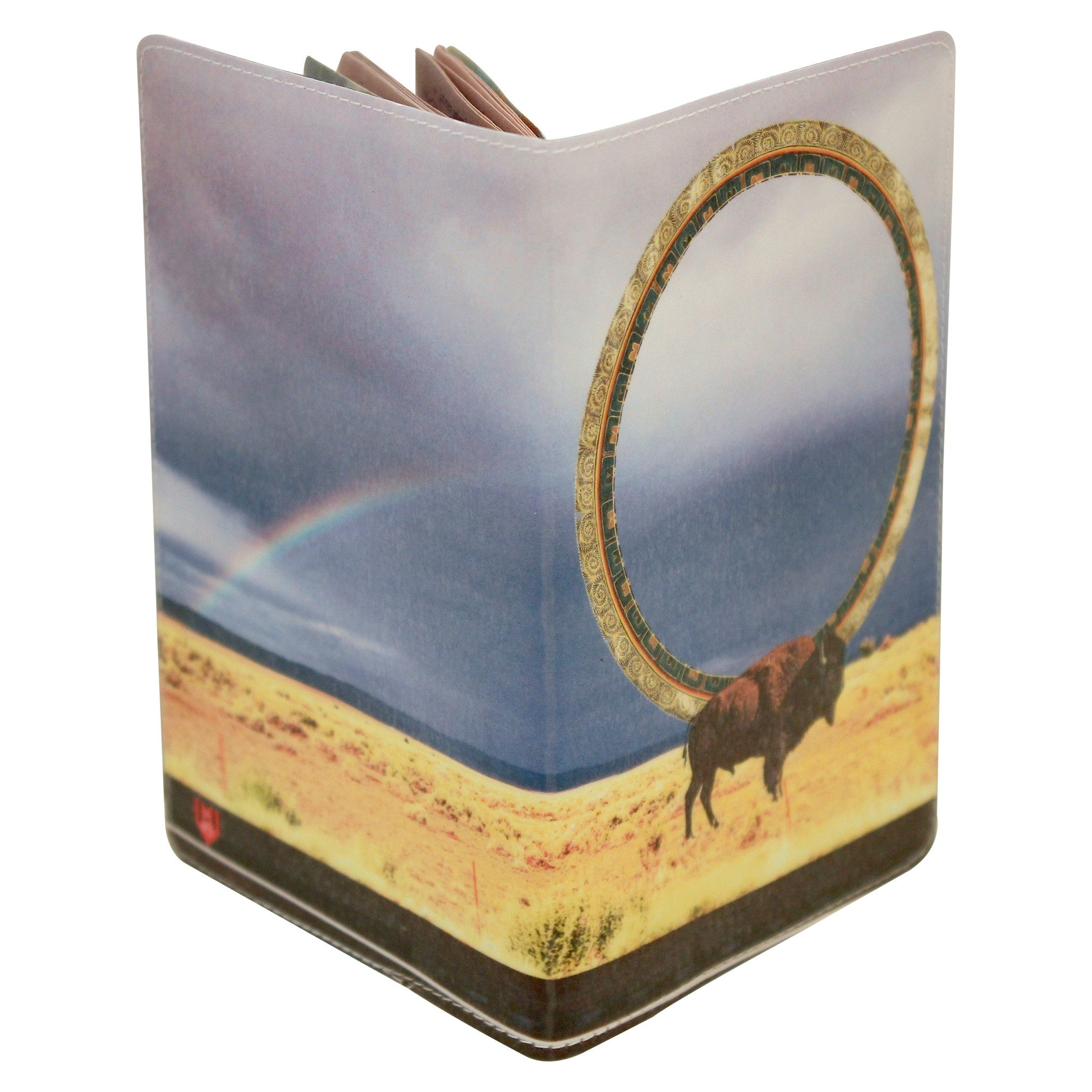 Native American Buffalo Magic Passport Holder