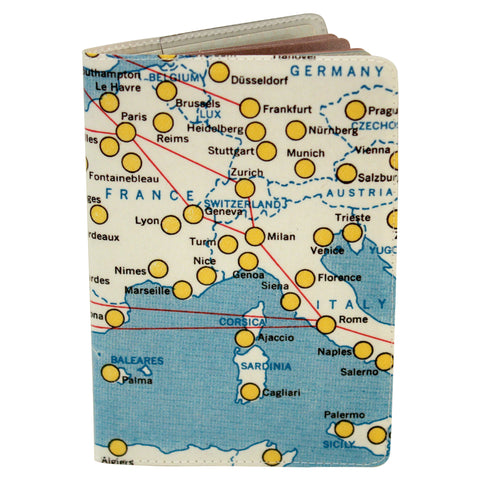 Map of Europe - Euromap Passport Holder
