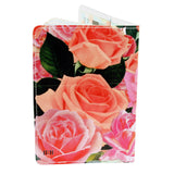 Vintage Roses Travel Passport Holder