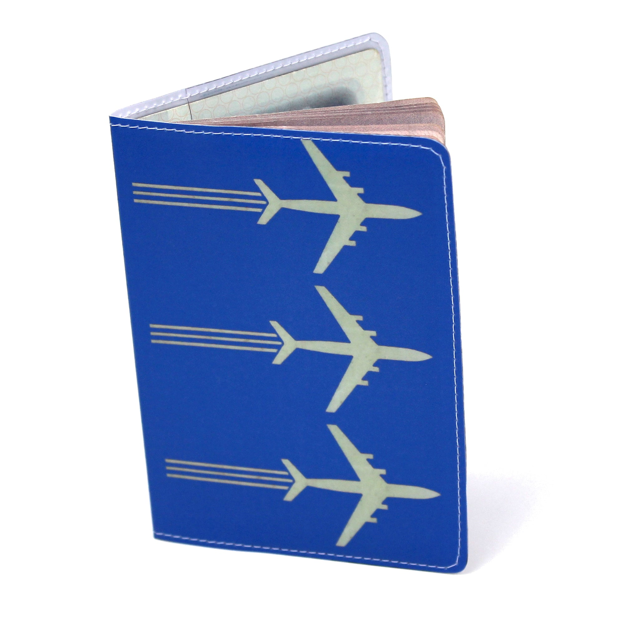 Airplanes Travel Set- Passport Holder + Matching Luggage Tags