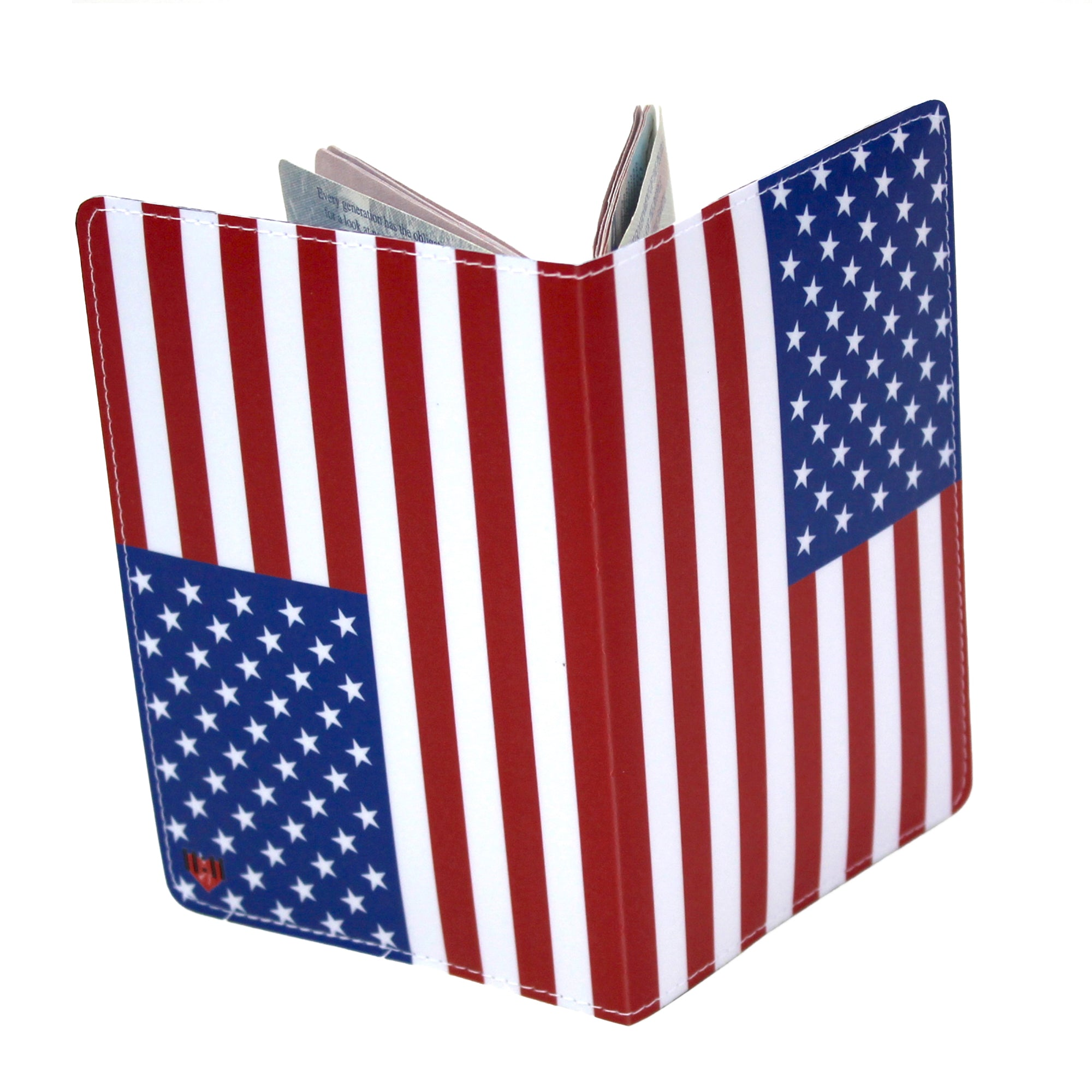 American Flag USA Travel Passport Holder