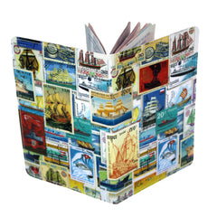 Ships Postage Stamps Travel Passport Holder