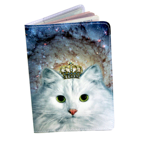 Space Kitty Travel Passport Holder