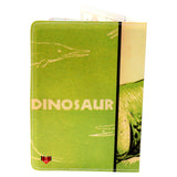 T-Rex Dinosaur Green Travel Passport Holder
