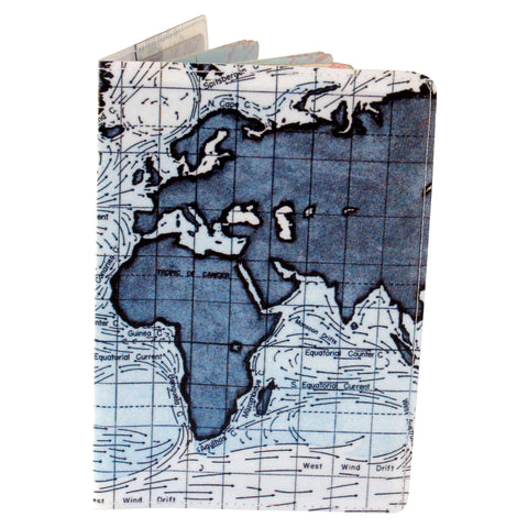 Ocean Currents Map Travel Passport Holder