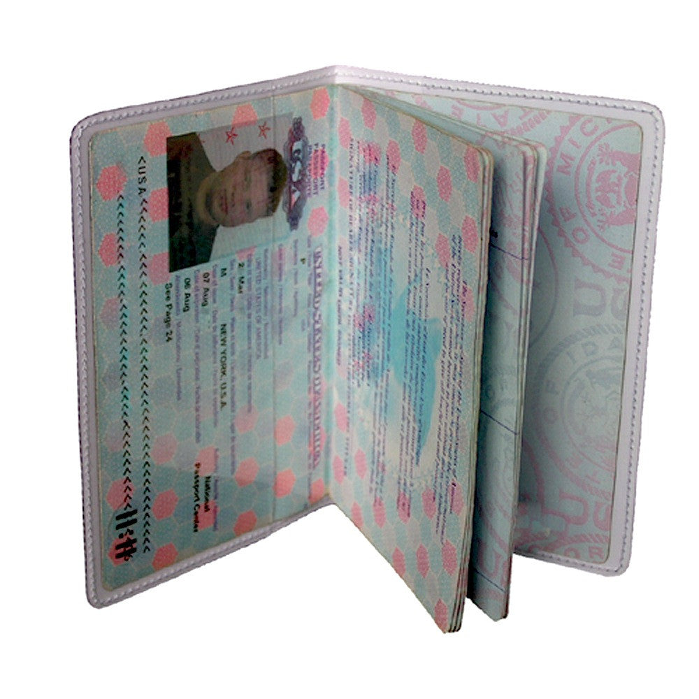 Green Siamese Kitty Cat Travel Passport Holder