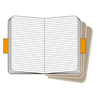 Moleskine Cahier, Ruled Pocket Journal 3 Pack