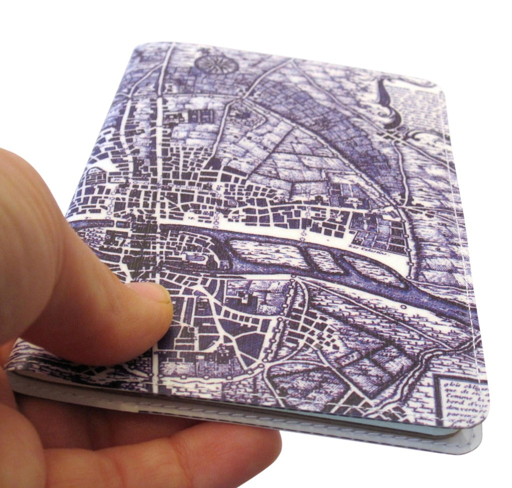 Map of Paris Covered Moleskine Notebook