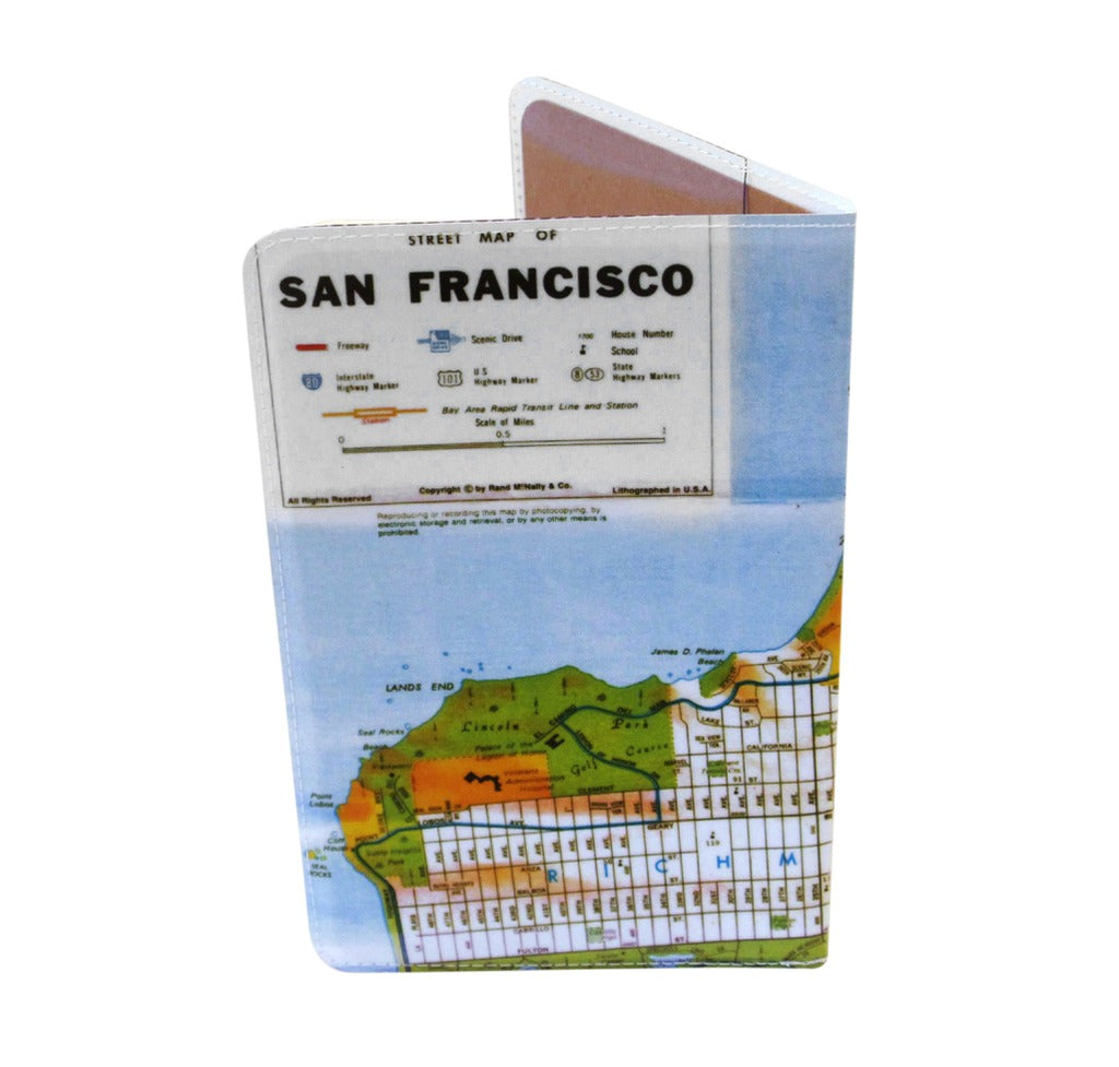 San Francisco Map Covered Moleskine Notebook