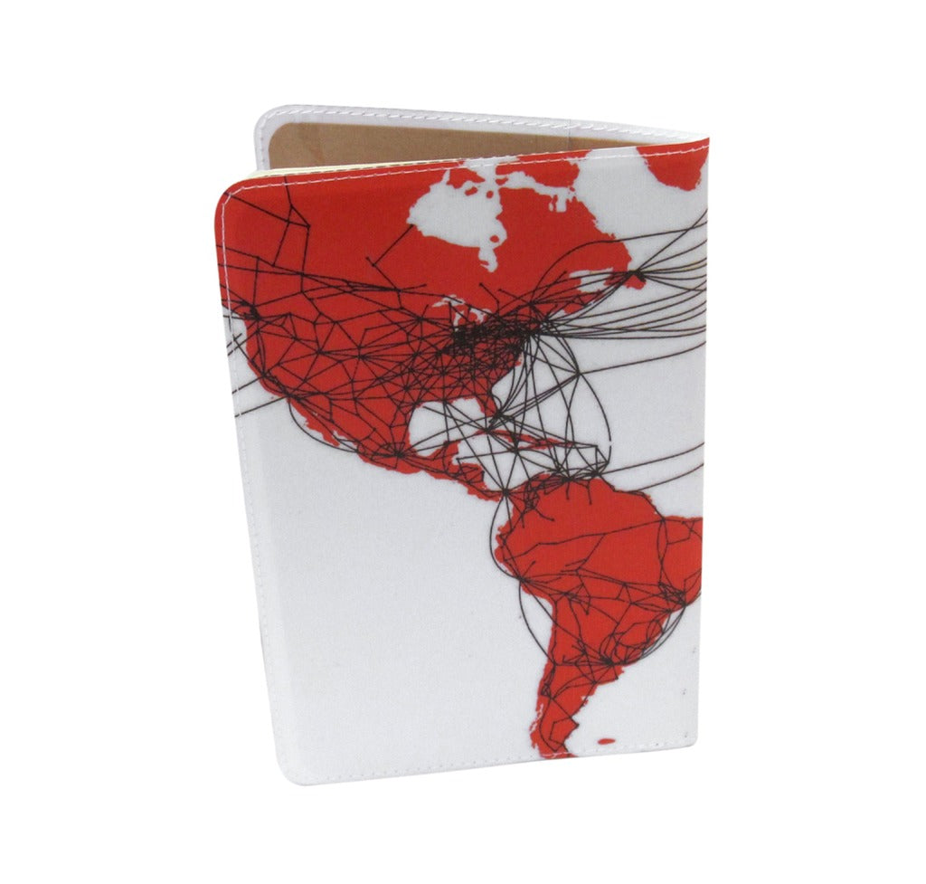 airline route map covered moleskine notebook