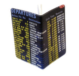Airport Departures Covered Moleskine Notebook