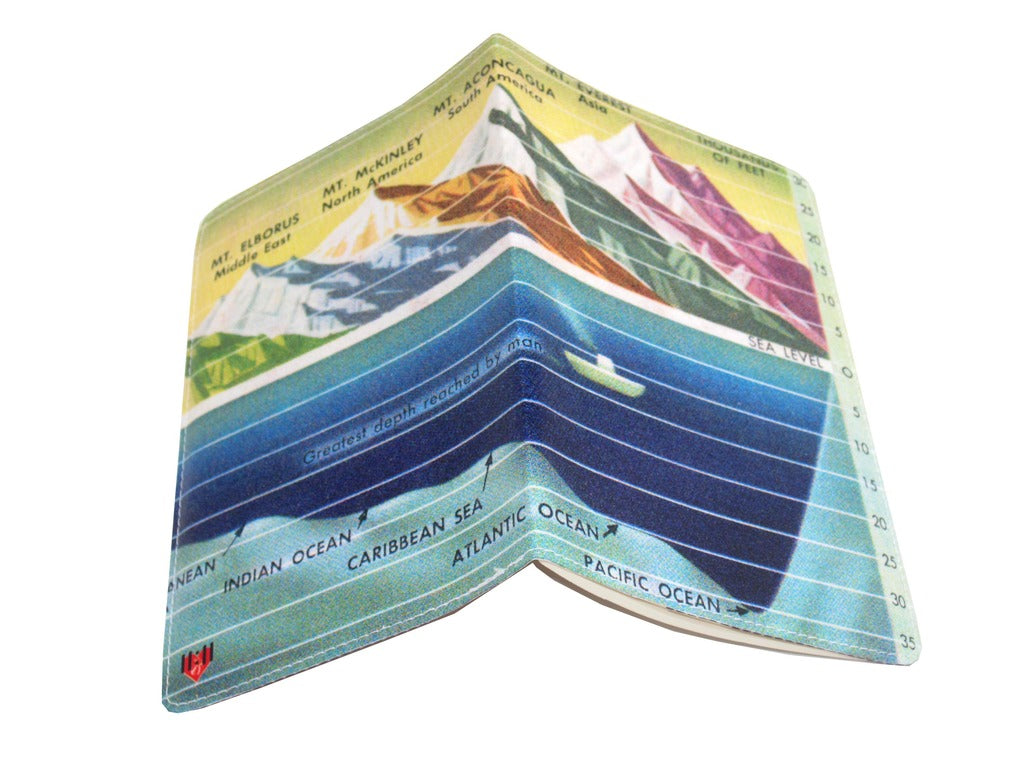 Sea Mountains Covered Moleskine Notebook
