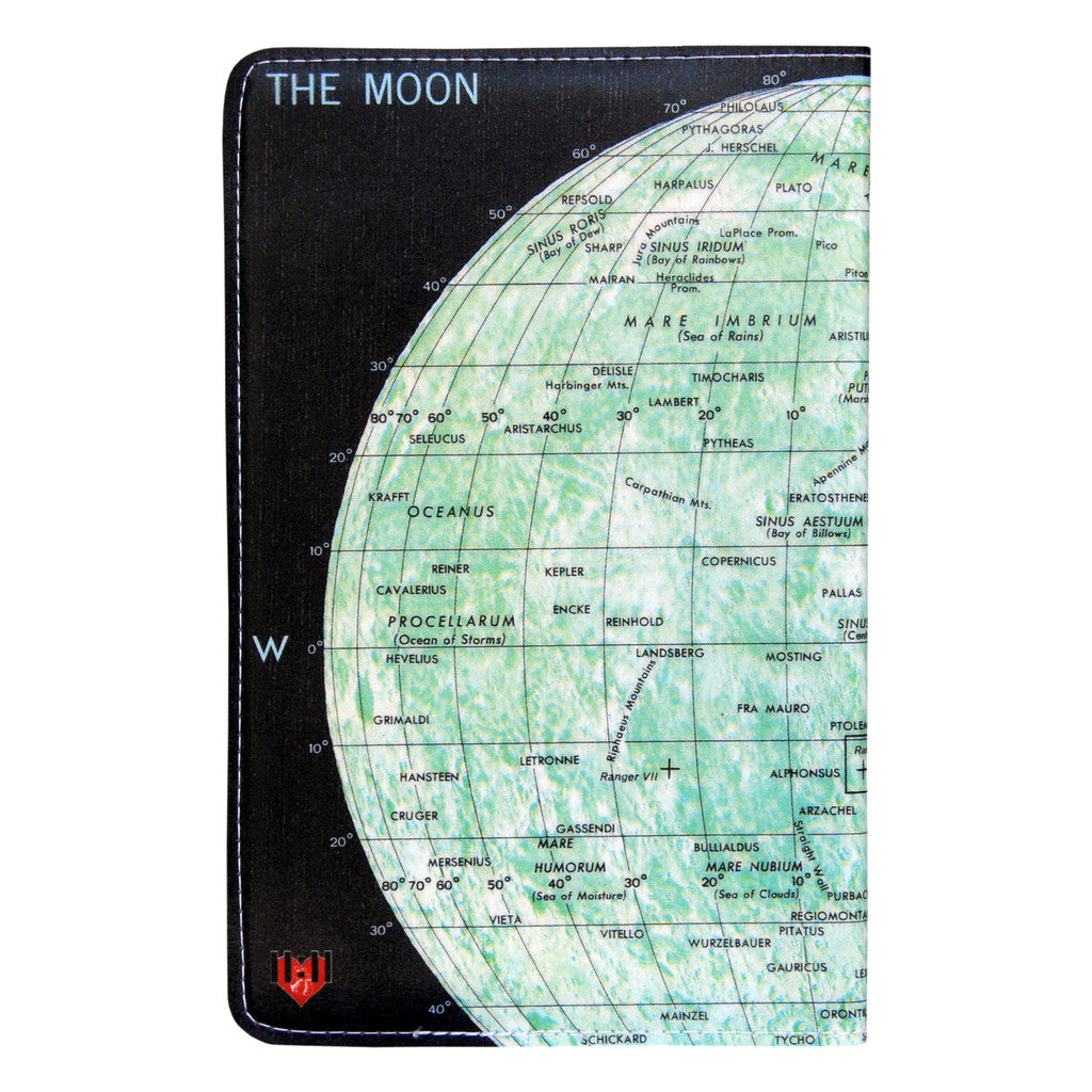 The Moon Map Covered Moleskine Notebook