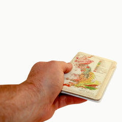 Great Britain Map Covered Moleskine Notebook