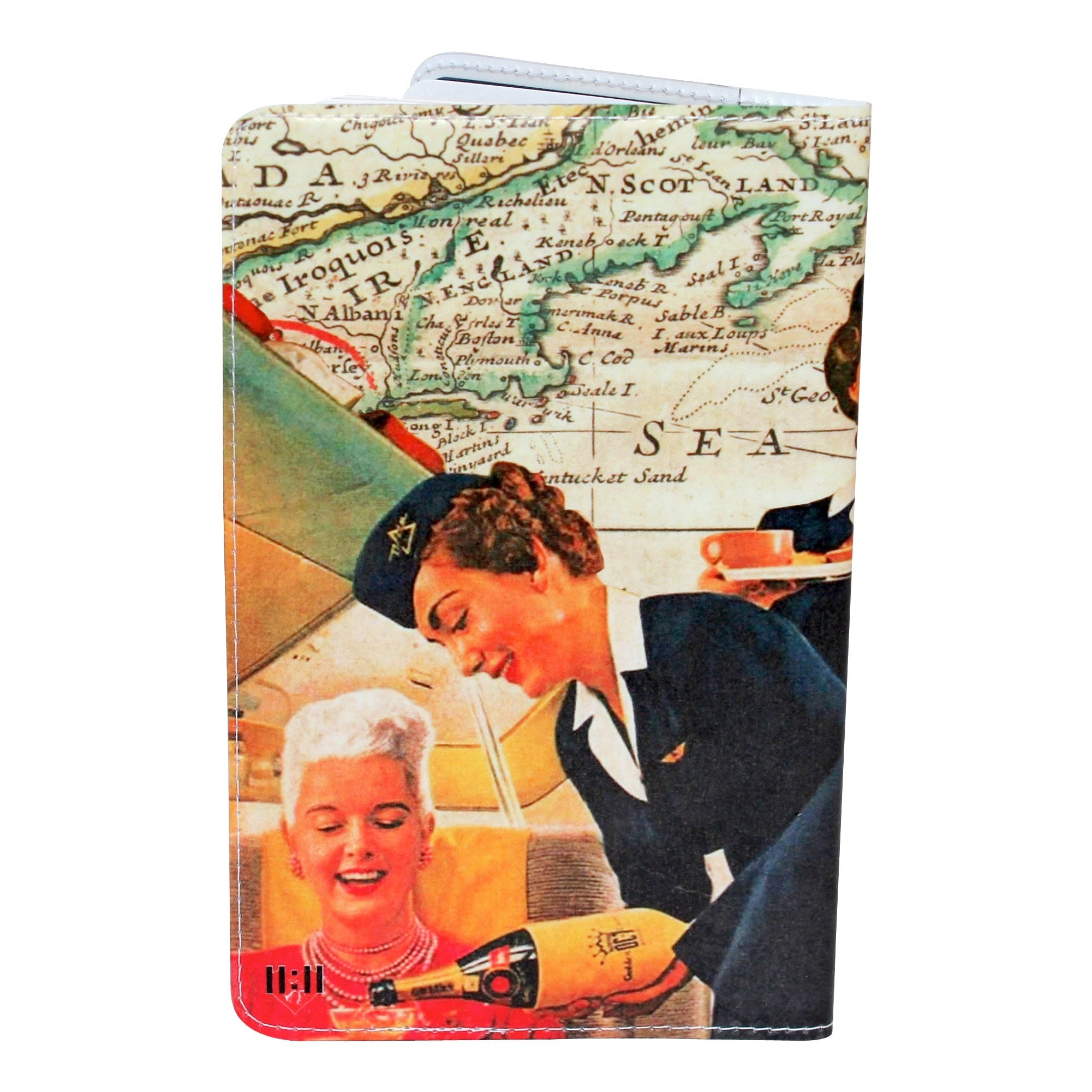 Vintage Flight Attendant Moleskine Cahier, Pocket Notebook Cover