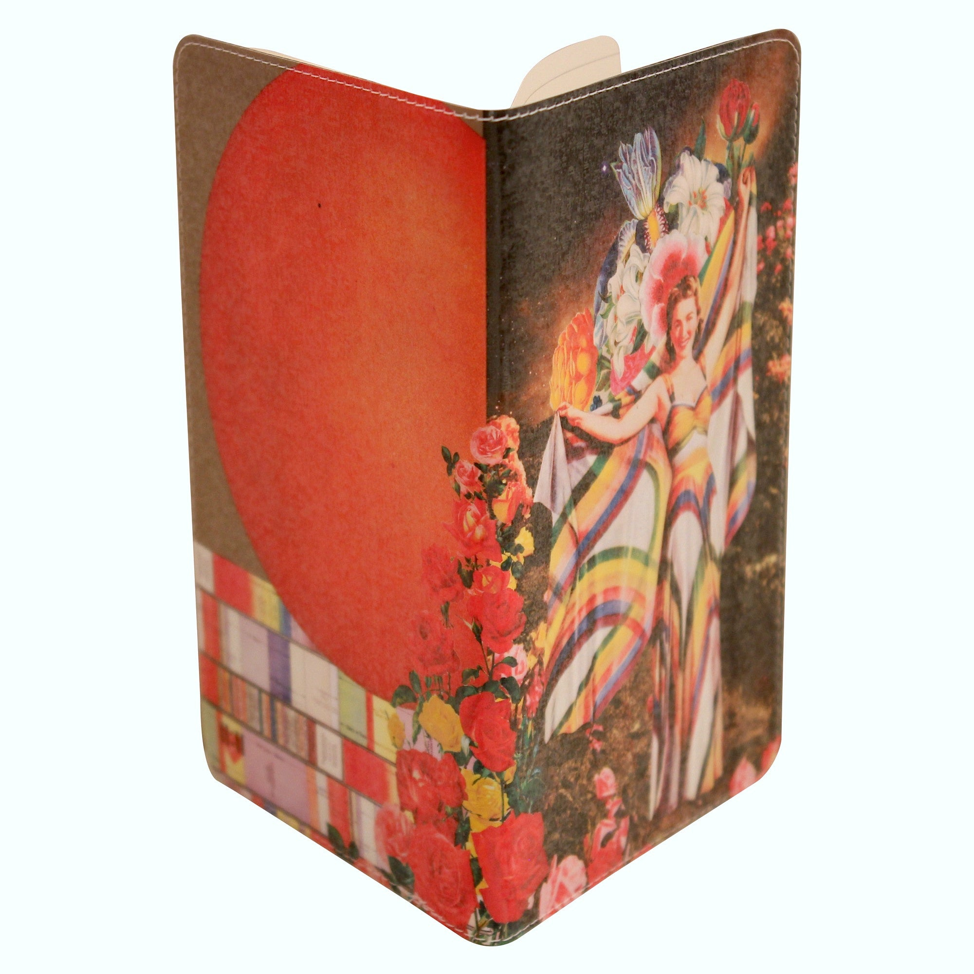 Rainbow Goddess Journal (Diary, Notebook) w/ Pocket Moleskine Cahier Cover