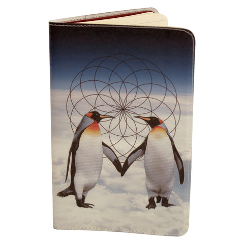Penguin Love Journal (Diary, Notebook) w/ Moleskine Cahier Pocket Cover