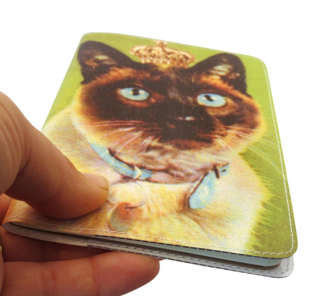 Royal Green Kitty Covered Moleskine Notebook