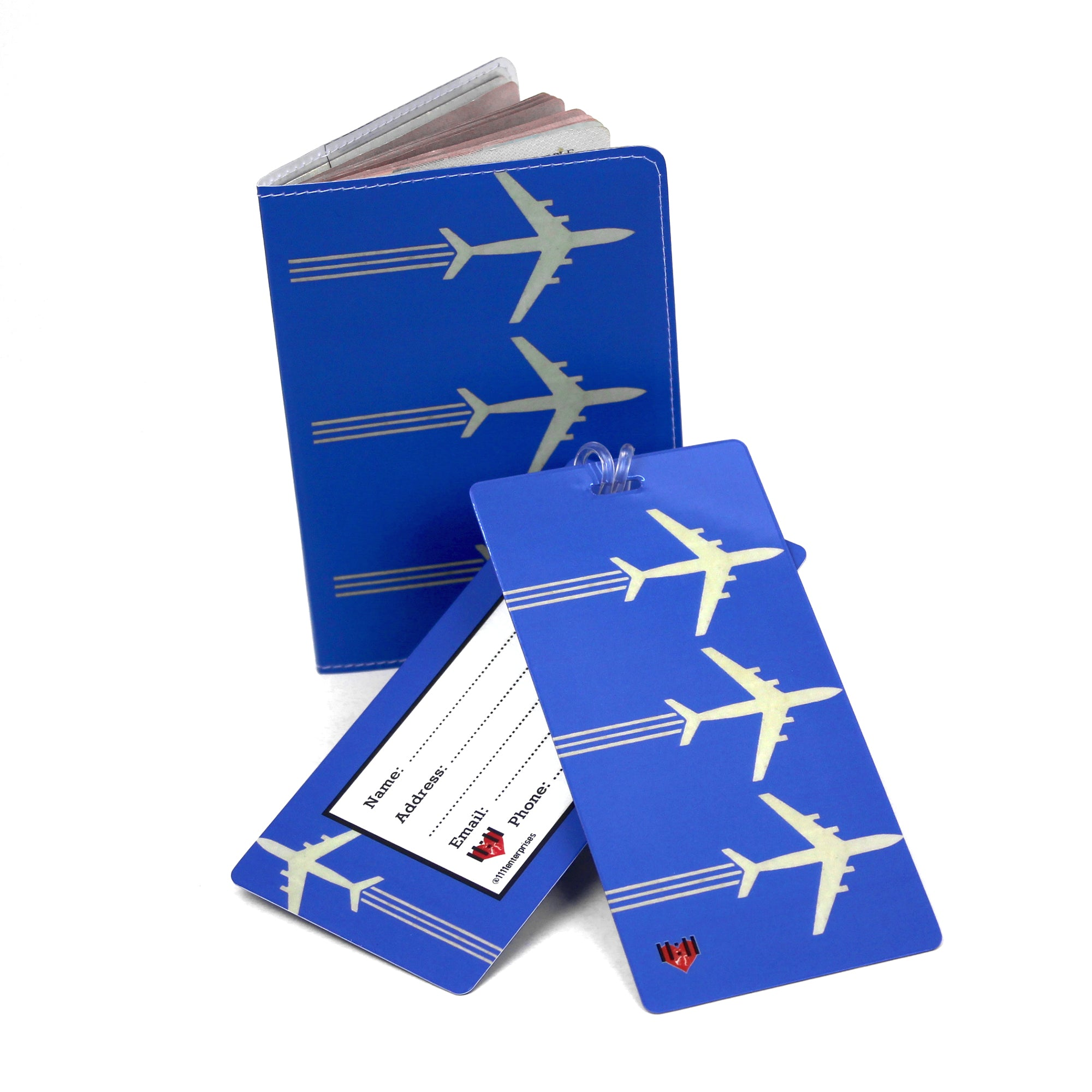 Airplanes Luggage Bag Tag Set - 2 pc, Large by 11:11 Enterprises