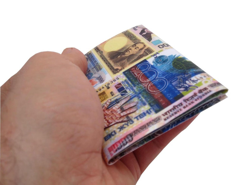 International Money Currency Tri-Fold Wallet