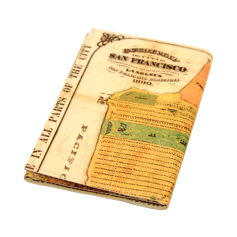 Vintage 1890 San Francisco Map Tri-Fold Wallet
