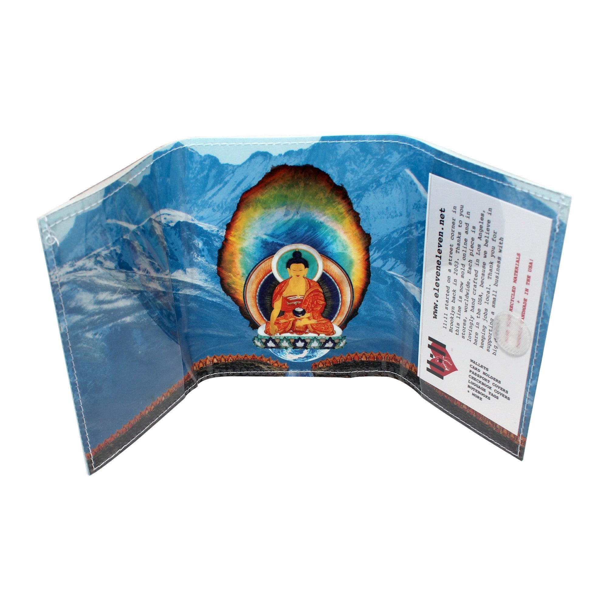 Diamond Buddha Road Tri-Fold Wallet