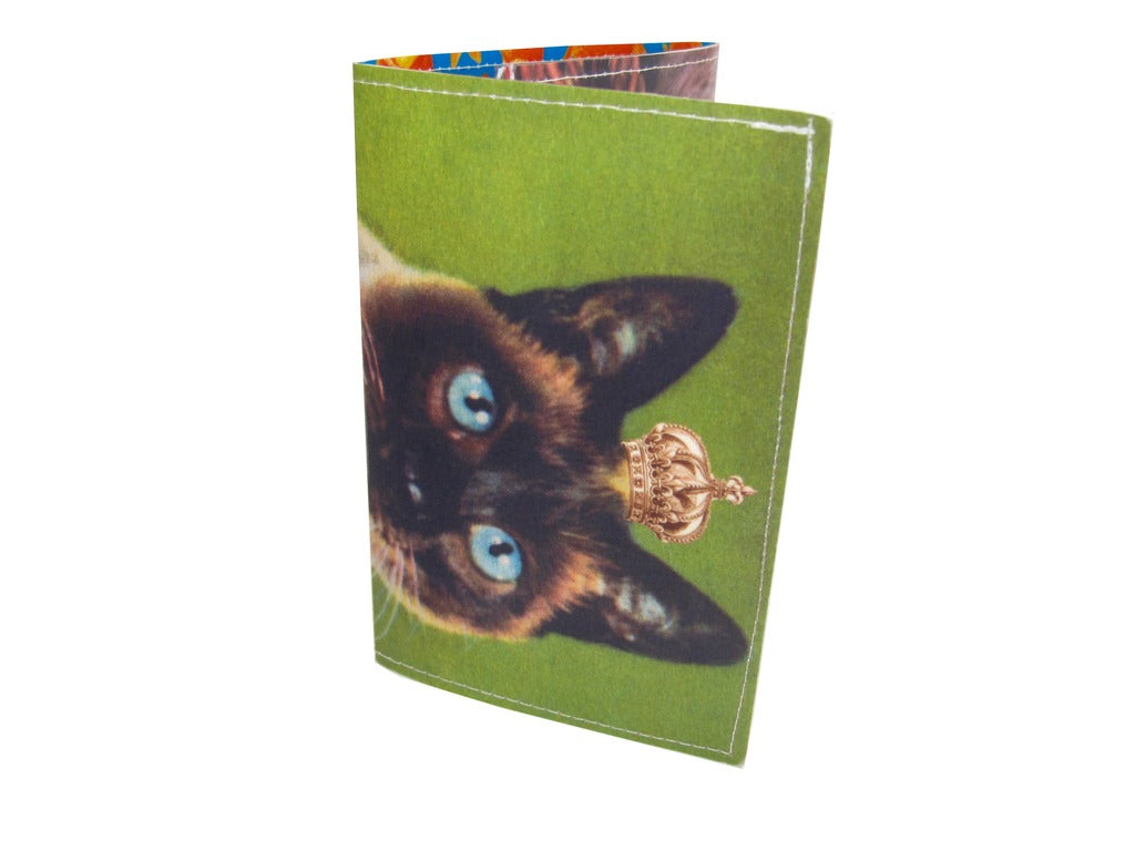 Royal Green Kitty Tri-Fold Wallet