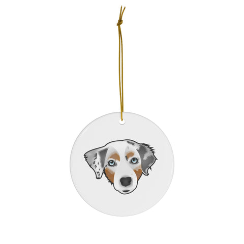 Australian Shepherd Custom Ceramic Ornament