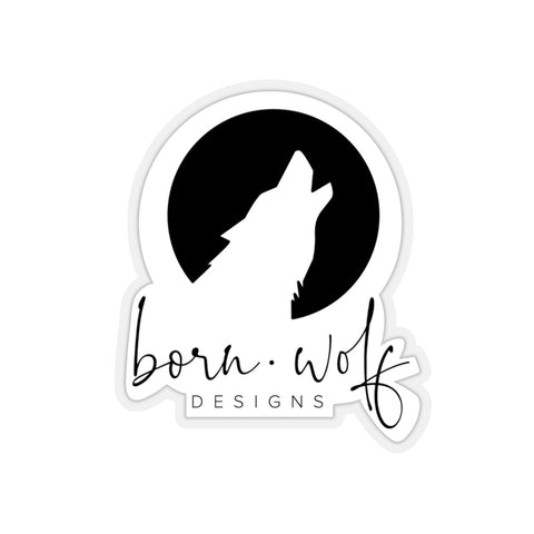 Born Wolf Designs Logo Sticker