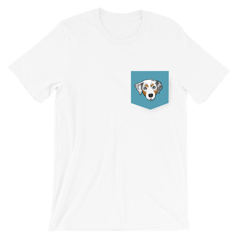 Australian Shepherd Custom Pocket T-Shirt