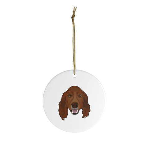 Irish Setter Ceramic Ornaments