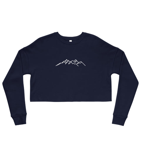 Mountain Icon Crop Sweatshirt