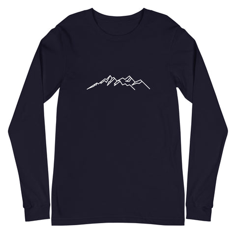Mountain Icon (Eco-Friendly) Long Sleeve T-Shirt