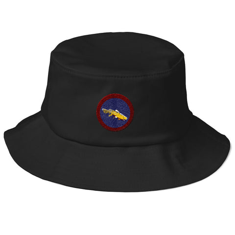 Montana Black Spotted Cut Throat Bucket Hat