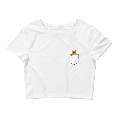 Cat In Your Pocket Crop Top