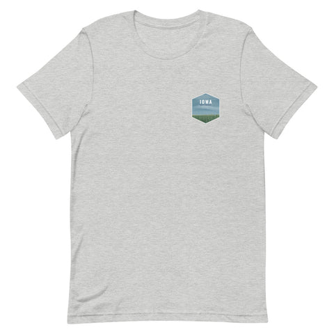 Iowa (Front + Back) Eco-Friendly T-Shirt