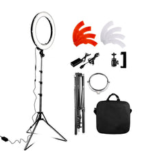 "Load image into Gallery viewer, 18"" Studio Ring Light Kit With Tripod Stand & Cell Phone Holder"