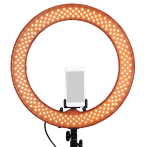"18"" Studio Ring Light Kit With Tripod Stand & Cell Phone Holder"